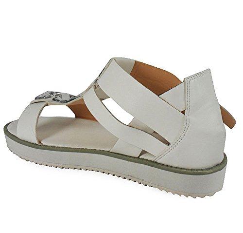 3 Taille White Femmes Summer Dames Nouveau Des Retro Loudlook Faux En Flip Cuir Beach 8 Flops Sandales qO6wnTSnxa