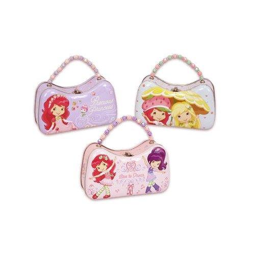 Assorted Strawberry Shortcake Tin Box with Handle - Girls Tin -