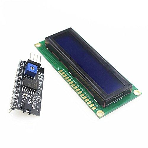 QX Electronics 1602 16x2 HD44780 Character LCD /w IIC/I2C Serial Interface Adapter Module