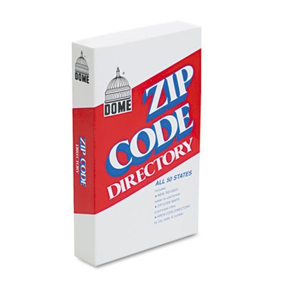 Dome Products - Dome - Zip Code Directory, Paperback, 750 Pages - Sold As 1 Each - Alphabetical list of cities and towns in the U.S. with detailed zip code ()
