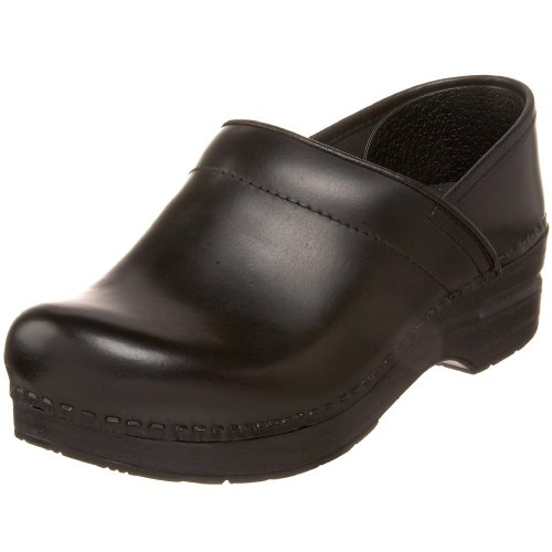 Dansko Womens Wide Professional Clog Black Cabrio