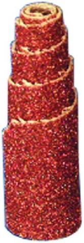 3//8Dia x 1-1//2L, 40 Grit, 50 Pk Half-Taper Spiral Cartridge Rolls