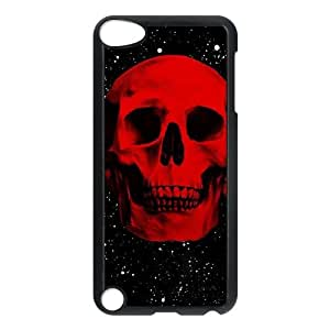Ipod Touch 5 2D Custom Phone Back Case with Skull Image
