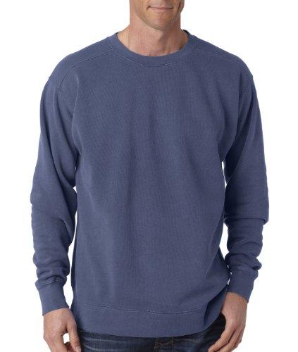 Adult Crew-Neck Blended Sweatshirt (Denim PgmDye) (X-Large) ()