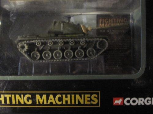 (U.S. Marine Corps M-48 Patton Tank (Coffin Cheater painted on gun) Vietnam War Corgi Fighting Machines Series with Display Stand)