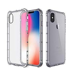 Apple iPhone X Case Soft TPU Back Case Cover - Clear Grey
