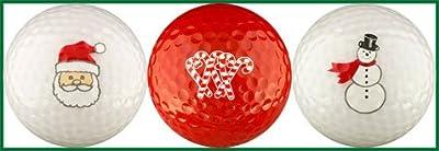 EnjoyLife Inc Christmas Candy Cane Golf Ball Gift Set