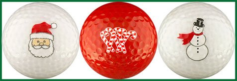 Snowman Golf Ball - EnjoyLife Inc Christmas Candy Cane Golf Ball Gift Set