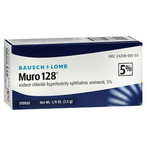 Bausch & Lomb Muro 128 Sodium Chloride Hypertonicity Opthalmic Ointment 5% 3.5g (lot of 4 boxes) ()