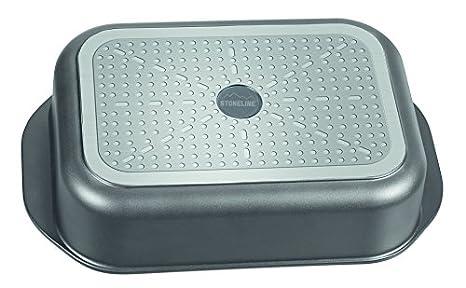 STONELINE/® Plat et de four//Combinaison 40/x 25/cm avec couvercle protection de lar/ôme en verre Compatible plaques /à induction