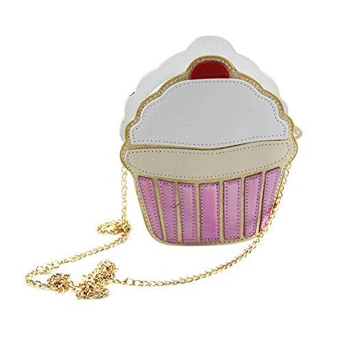 Purse Cream Bags Bag Cute Bags Chain Funny Ice Cake Women Espeedy Messenger Crossbody For Bag Small Cake qPH76A