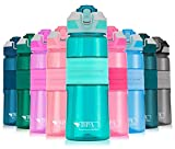 Portable Drinking Straw Sports Water Bottle Leakproof BPA-Free Tritan Plastic Water Bottle 15/22/32oz One Click Flip Cap for Outdoor/Camping/Running/Gym/