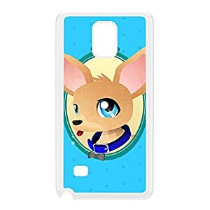 Chihuahua White Hard Plastic Case for Galaxy Note 4 by DevilleArt + FREE Crystal Clear Screen Protector