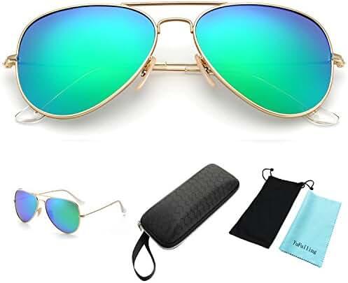 YuFalling Polarized Aviator Sunglasses for Men and Women