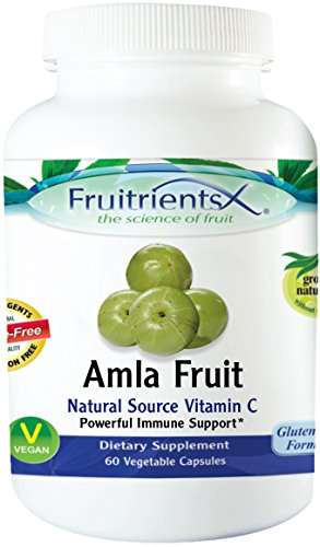 Amla Fruit Natural Source Vitamin C, Powerful Immune Support, Digestive Support, Sore Throat Relief, & Anti Aging Emerald Laboratories (Fruitrients) 60 Vegetable Capsules