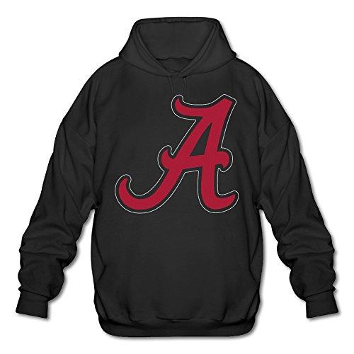 Alabama Crimson Tide Remote - POOZ Men's Alabama Crimson Tide Football Hoodie Black Size M