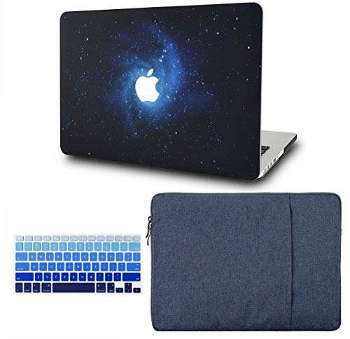 """KECC Laptop Case for MacBook Air 13"""" Retina (2020, Touch ID) w/Keyboard Cover + Sleeve Plastic Hard Shell Case A2179 3 in 1 Bundle (Blue)"""