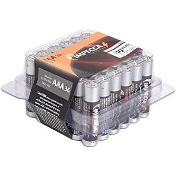 Amazon.com: IMPECCA AAA Batteries, All Purpose Alkaline