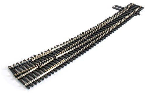 Curved Turnout - Peco HO Scale Code 83 Insulfrog #7 Right-Hand Turnout