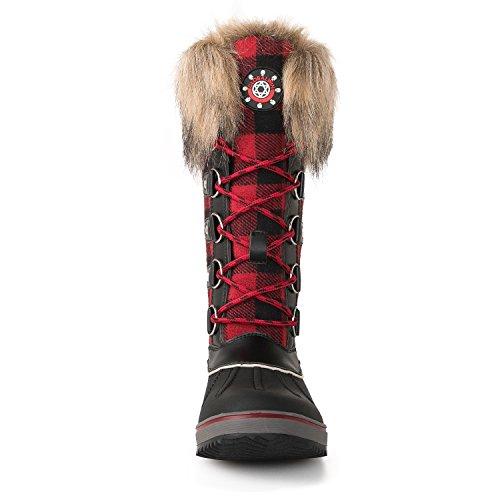 Kingshow Women's Black Winter Waterproof Globalwin 1740red Boots 0Br0q