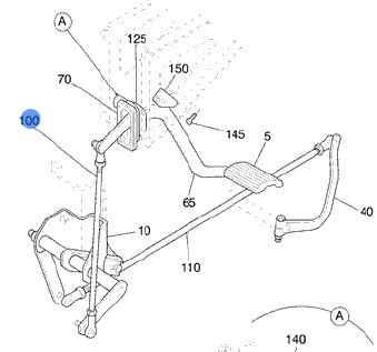 Volvo Truck 3937835 Clutch Linkage Rod
