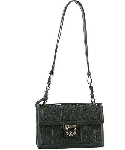0668045 Salvatore Ferragamo Black Leather Woman Shoulder Bag