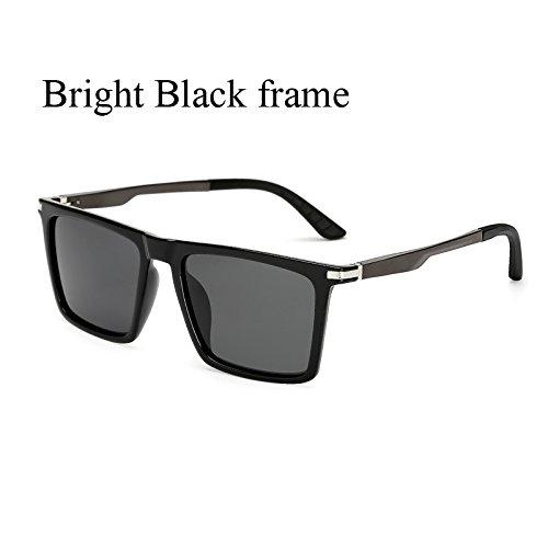de Conducción Gafas C1 Polaroid Cuadrados KP7035 Sol Hombres Tamaño Grandes Hombre de TL de Sol KP7035 de Negro C2 Gafas de Mujer Gran Sunglasses Gafas Brazos para polarizadas Aluminio de Sol nwFUqA