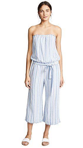 Bella Dahl Women's Strapless Crop Jumpsuit, Provincetown, Small (Linen Strapless)