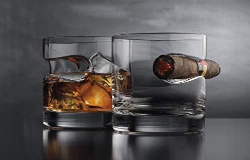 Godinger Cigar Glass - Old Fashioned Whiskey Glass With Indented Cigar Rest by Godinger (Image #1)