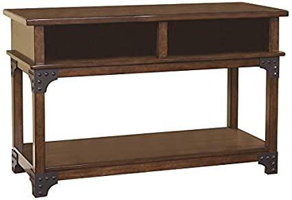 Rustic style furniture Solid Wood Image Unavailable Overstock Amazoncom Ashley Furniture Signature Design Murphy Sofa Table