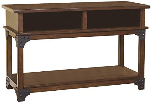 Signature Design by Ashley – Murphy Rustic Console Table, Medium Brown