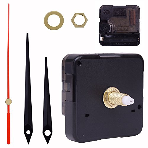 Clock Mechanism Clock Movement Replacement with Hands - 1/2 Inch Maximum Dial Thickness, 15/16 Inch Hand Shaft Length, Mute Scanning Battery Operated by (Pc Movement Round Dial)