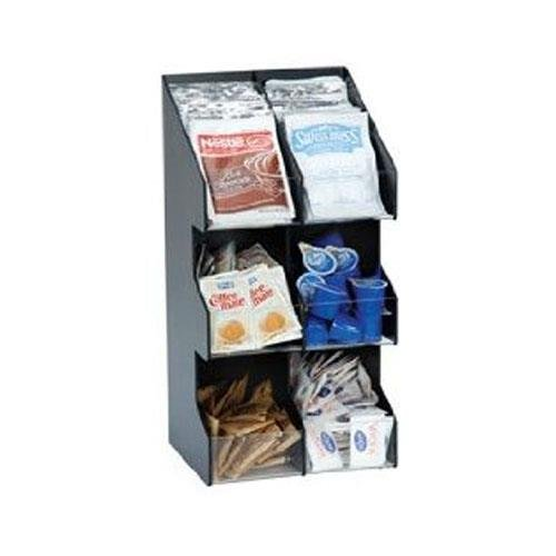 - Dispense-Rite VCO-6 Six Section Countertop Vertical Lid/Condiment Organizer