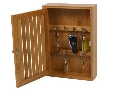 L-FENG-UK Wooden Wall Mounted Key Box