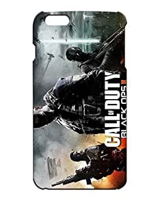 Call of Duty Cell Phone Cover Case for iPhone 6S Plus, iPhone 6 Plus Funda Piel Cool Game Girls Boys (Negra and Diseño) 3D Dura Plastik Protect Luz Vintage Drop Resistant Case for