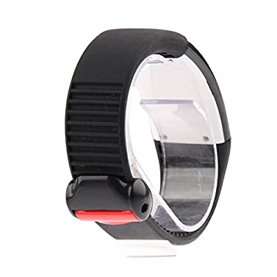 Generic Silicone Wristband LED USB Watch with Five Individual Function (Time + Calorie + 3D Pedometer + 8G USB Flash Disk + Characteristic Show)(Black)