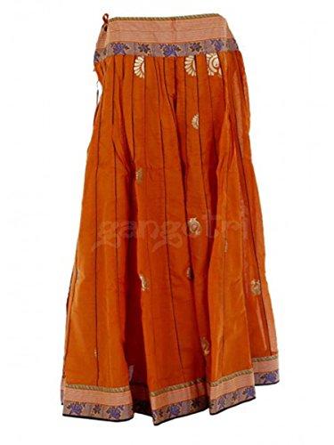 Girls Skirt 40 Panel Rust