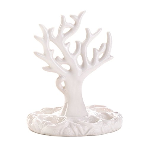 Koehler 15171 7 Inch White Coral Jewelry Accessory Holder