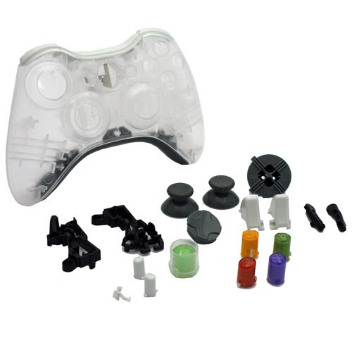Xbox 360 - Repair Part - Controller Housing Shell - FULL SET - Clear White