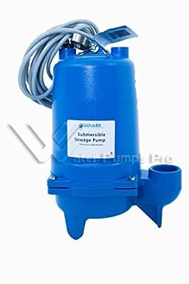 Goulds WS0712B Submersible Sewage Pump, 3/4 HP, 1 PH, 230 V