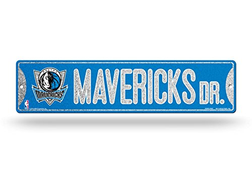 Rico Dallas Mavericks NBA Bling Glitter Sparkle 16'' Street Sign by Rico