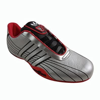 887454a41366f5 Mens Adidas Goodyear Race Adi Racer Leather Trainers Silver Black Trainer  UK 10  Amazon.co.uk  Shoes   Bags