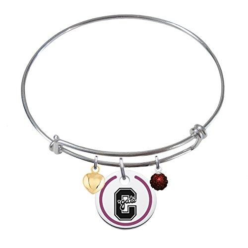 colgate-raiders-steling-silver-adjustable-bangle-bracelet