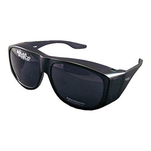 Solar Shield Fits-Over SS Polycarbonate II Smoke - Shield Sunglasses Fits Solar Over