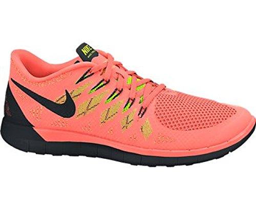 NIKE Free 5.0 Ladies Running Shoe, Orange/Black, US10.5 (Orange Nike Shoes Women)