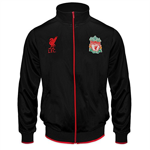 Liverpool FC Official Gift Boys Retro Track Top Jacket Black 10-11 Years