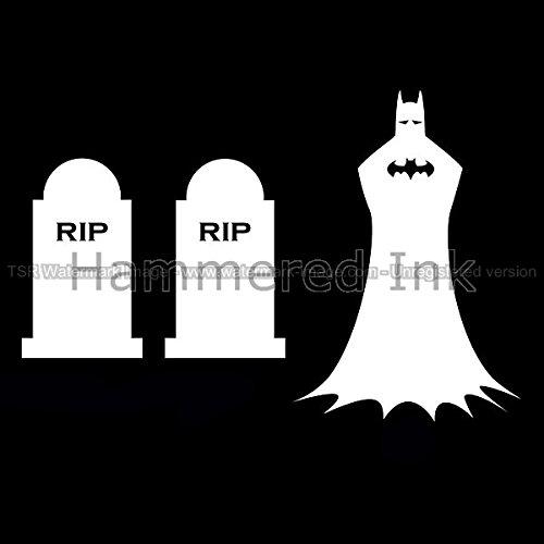 Batman Grave RIP Die Cut Vinyl Car & Truck Decal, Window Sticker HAMMEReD INK