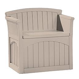 Mini Patio Storage Bench (Taupe) (30\