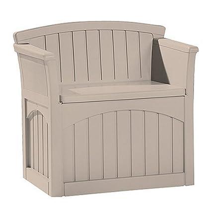 Mini Patio Storage Bench (Taupe) (30u0026quot;H X 31u0026quot ...