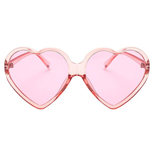 Inkach Fashion Womens Sunglasses UV 400 ❤️ Vintage Shades Eye Glasses Sweet Heart-shaped Frame Sun Glasses Eyeglasses (Pink Sweetheart Glasses)